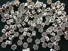 50 Antique Silver 5x3mm Flower Spacer Beads #sp1822 Combine Post-See Listing