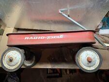 "Antique RADIO PAL Red Wagon by Radio Steel/Flyer ~24 ¼"" x 12 ¼"" x  9"""