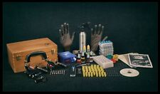 Fuente de alimentación del tatuaje conjunto Azul LCD Profesional Usa Tinta 3 x Kit de máquinas Armas Reino Unido