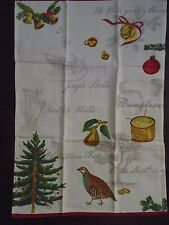 NEW WILLIAMS SONOMA 12 DAY OF CHRISTMAS  SET OF 2 KITCHEN TEA TOWELS