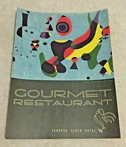 Vintage 1950's Gourmet Restaurant Menu, Cincinnati OH, Terrace Plaza Hotel, Miro