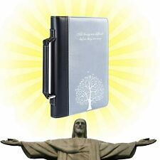 Bible Book Cover with Zippered for Men and Women, Book Protector, PU Leather Han