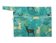 2018 Mini Wet Bag Reusable Mama Cloth Menstrual Pad Sanitary Small Regal Deer