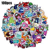 Snowboard Laptop Among Us Cool 100pcs//set Game Stickers Skateboard Guitar