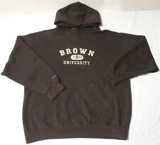 BROWN UNIVERSITY CLASSIC SWEATSHIRT W DATE LOGO APPLIQUÉ & EMBROIDERY HOODIE L