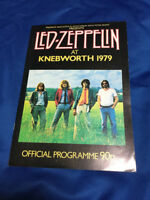 Led Zeppelin at Knebworth 1979 Official Programme 90p Jimmy Page Robert Plant