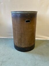 LARGE ANTIQUE VINTAGE INDUSTRIAL TEXTILE MILL BIN LOG LAUNDRY BASKET
