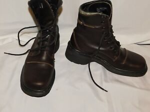 DR. MARTENS DMS BROWN LEATHER SHORT BOOTS SIZE 6