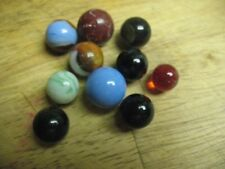 VINTAGE    ESTATE  LOT  OF  MIXED  GLASS   MARBLES (10) ALL OLD OR  OLDER