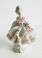 Dresden lace dancer figurine - circa1900 - crown mark