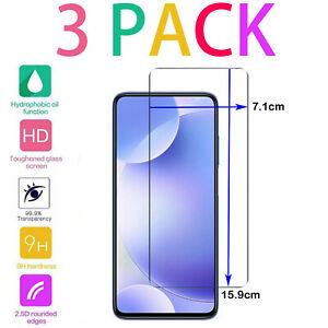 For Xiaomi Mi Redmi 9 8 7 6 Note Tempered Glass Screen Protector - CRYSTAL CLEAR