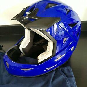 Child's Tuxo Mountain Bike Helmet Blue Sz S 55-56