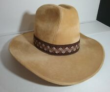 The Duke (John Wayne) Collection Gold Felt Cowboy Hat Size M  7-7 1/8