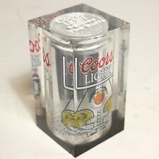 Coors Lucite Beer Can Orange Bowl Notre Dame   Colorado Buffaloes Vtg 90s Advert