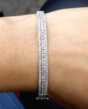 Deal of the day! 2.00 CT Natural Diamond Tennis Bangle Bracelet in 14K Gold