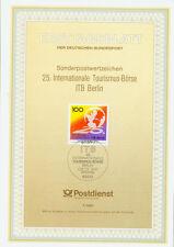 BRD ETB Ersttagsblatt 7/1991 ITB Berlin Mi.Nr.1495