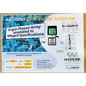 UHF  Phased Array High Gain TV Antenna for good pictures or Problem Reception