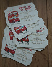 WEDDING SAVE THE DATE CARDS     BUS TICKET DESIGN   CREDIT-CARD SIZE