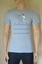 New abercrombie & fitch charlie brown snoopy peanuts graphic tee t-shirt bleu s