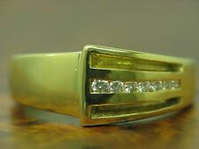 18kt 750 Yellow Gold Ring with Brilliant Decorations/ Diamond/ 6,2g/ Rg 54