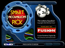 Winning the lottery Megamillions smart number pick software for Windows (CD)