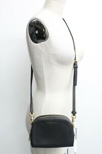 Marc Jacobs Playback Leather Crossbody Bag Black Saffiano Leather NWT