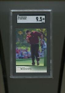 2001 Upper Deck Golf #1 Tiger Woods RC Rookie SGC 9.5 MINT