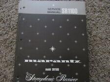 New listing Marantz Sr1100 Stereophonic Receiver Original Service Repair Manual