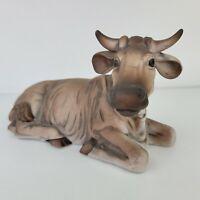 Cow Laying Animal Figurine Grandeur Noel Christmas Nativity Set N0073