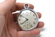 Made Top Wind Running Pocket Watch #32287 A Good Vintage Gents Chrome Oris Swiss