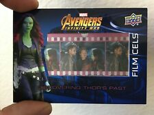 2018 UPPER DECK AVENGERS INFINITY WAR GAMORA FILM CELS SP #FC14 THOR STAR-LORD