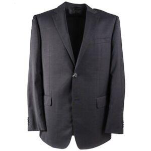 NWT $1295 VALENTINO Slim-Fit Gray Fine Striped Wool Suit 46 R (Eu 56)