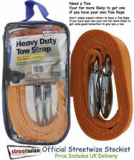 Tow Strap Quality Heavy Duty 6.5 Tonne Breakdown Recovery Towing Rope 3.5M Long