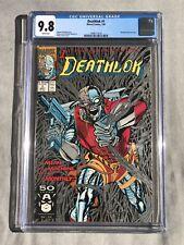 Deathlok #1 🔥CGC 9.8🔥 Ongoing Series Warwolf App Metallic Silver Cover 1991