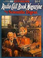 LIBRO RIVISTA chiamata RADIO 1928 fine art print poster cc377