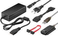 """USB2.0 zu IDE SATA Adapter Kabel 2,5"""" 3,5"""" 5,25"""" Festplatte PC Computer inkl. NT"""
