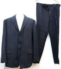 "BERNARD REISS Men's Black Pure Wool Single Breasted Suit W38 L31 Chest 46"""