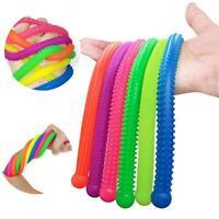 6Pcs/Set Softs Stretchy Noodle String Fidget Sensory Toys Stress Relief Toy