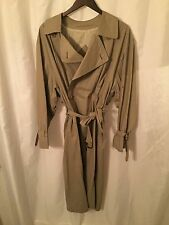 pre-owned Men's SIZE 38 R BURBERRY PROSORUM putty tan TRENCH COAT retail $1800