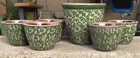 """1995 BBP Pottery Stoneware 6 Pc Bowl Set 4 X 4 1/2"""" & 2 1/4 X 3 1/4"""""""