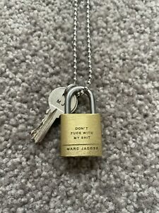 Marc Jacobs 'Don't F*ck With My Shit' Padlock Necklace Keychain