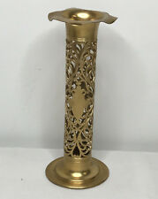 Antique Forbes Co. Golden Quadruple Silver Art Nouveau Filigree Open Vase Holder