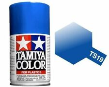 TAMIYA COLORE SPRAY PER PLASTICA METALLIC BLUE BLU METALLIZZATO 100ml ART TS19