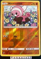 Carte Pokemon NOUNOURSON 55/111 REVERSE Soleil et Lune 4 SL4 FR NEUF