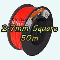 50m of Genuine STIHL 2.7mm SQUARE Brushcutter Strimmer Trimmer Cord Line Wire
