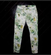 ca6dc09e7 Ted Baker Hummingbird Floral White Skinny Jeans Size 28