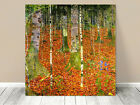 Stunning Classic Art ~ Autumn Leaves Iris Gustav Klimt ~ CANVAS PRINT 24x24""