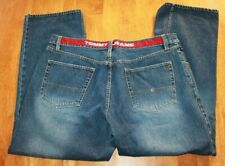 "Tommy Jeans Denim Baggy Pants Red Stripe Waist Mens 42"" Waist x 31"" Inseam"