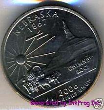 2006 P & D Nebraska State Quarter Pair Gem Bu Satin Finish No Reserve