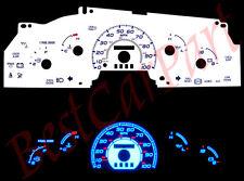 97-98 F-150 F150 w/o Tach RPM BLUE INDIGLO GLOW WHITE GAUGES
